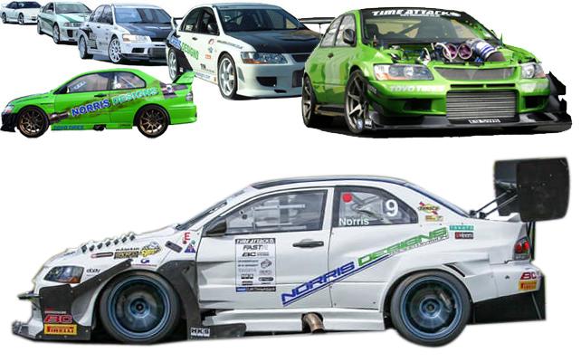 Norris Designs Nissan, Mitsubishi, Focus RS & 1M BMW Tuners - +44