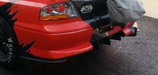 Evo 7/8 style rear bumper with carbon rear diffuser, spats and exhaust shield